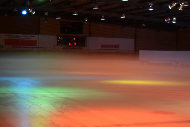 Ice Rink Disco Lights - Phillip Swimming and Ice Skating Centre